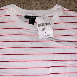 Red And white stripped top